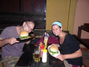 Großes Burger-Essen
