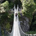 Maschendraht Hängebrücke
