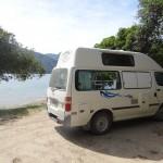 Unser Camper in der Aussie Bay