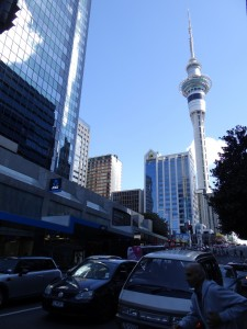 Auckland CBD und Skytower