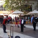 Straßenkünstler Plaza de Armas