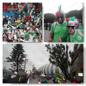 Fans im und vor dem Stadion Porto Alegre