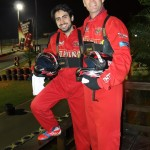 Rennfahrer Philipp und Alex