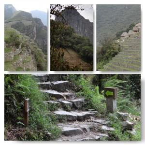 Die Treppen der Inka bei Machu Picchu