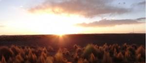 Sonnenuntergang Zugfahrt Bolivien