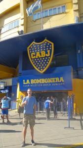 Philipp vor dem Boca Stadion