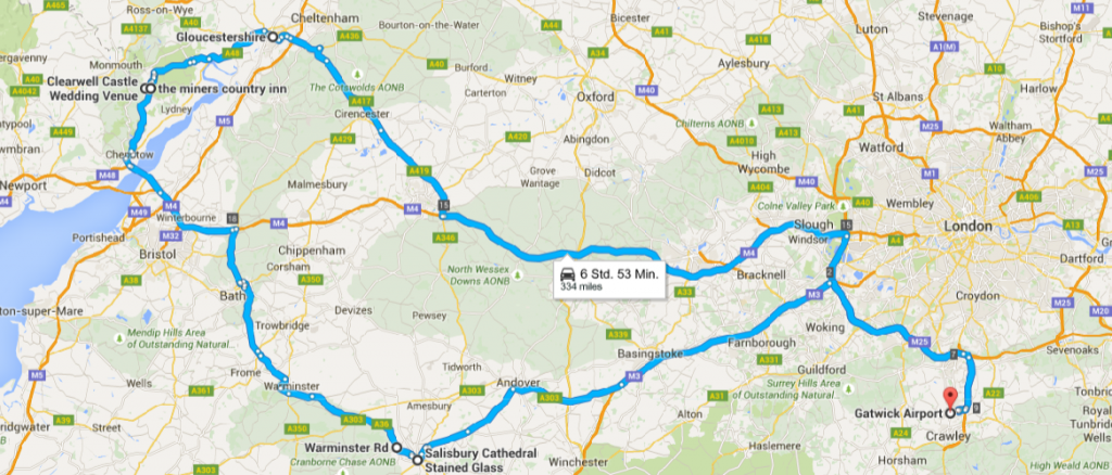 Unsere England Route
